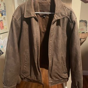 Croft and Barrow Brown Leather Jacket